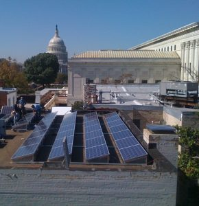 Solar array on the Lutheran Church of the Reformer in Washington D.C.