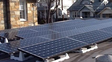 Solar arrays in Washington D.C.