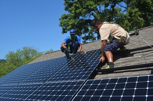 Solar installation in Arlington, VA
