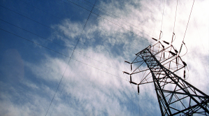 A grid transmission tower