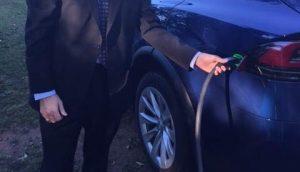 Oak Grove Electric Car Visitor