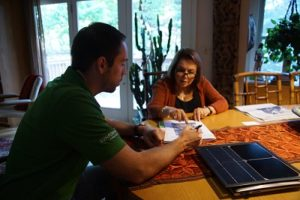 Solar homeowners review fixed charges at the diner table