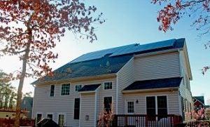 A Richmond Community Solar Co-op installation
