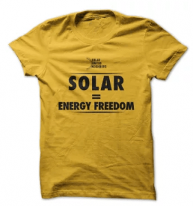 Founding Member T-shirt: Solar = Energy Freedom