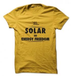 Founding Member T-shirt: Solar = Energy Freedom