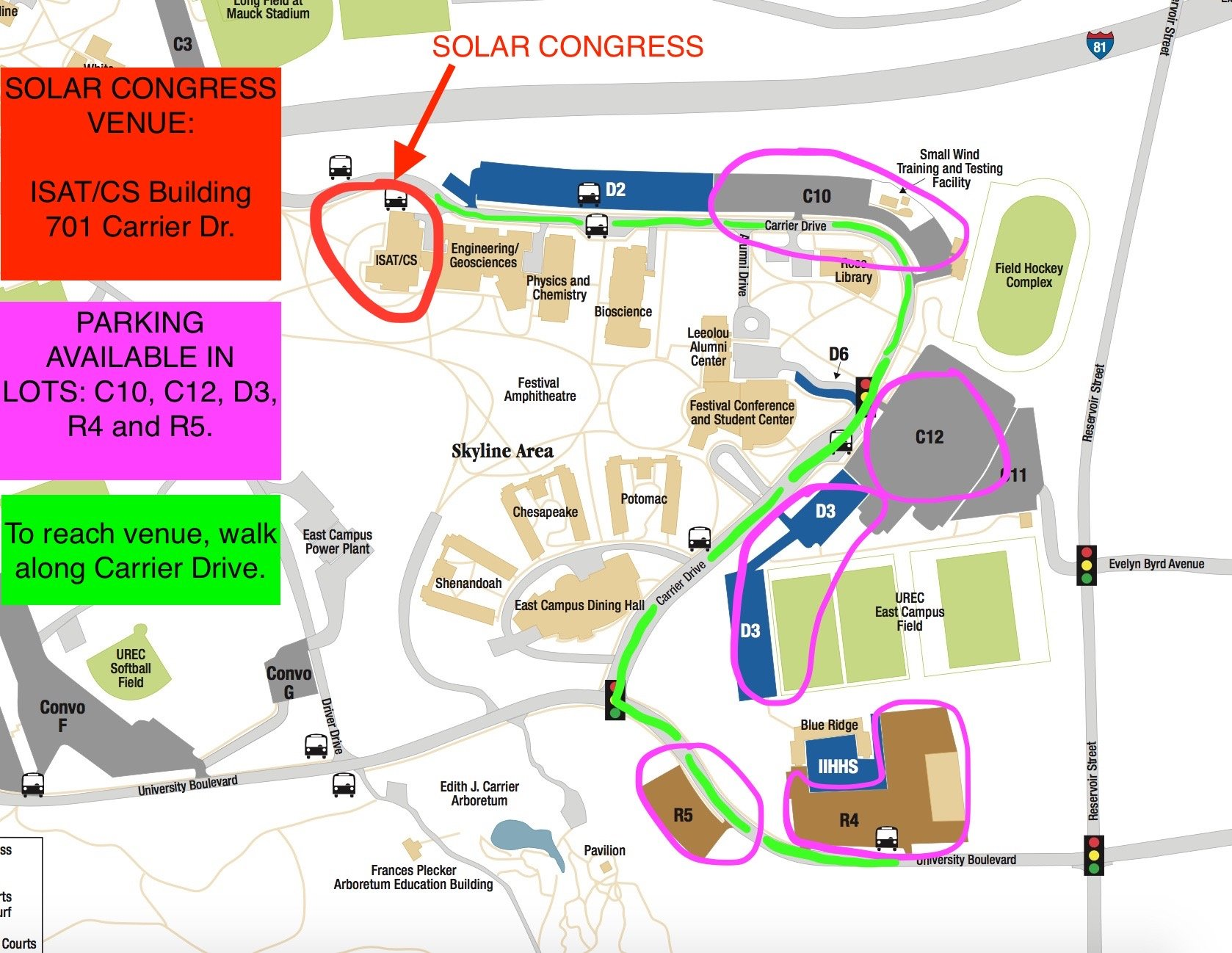 JMU Parking Map