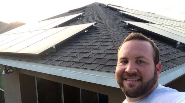 guys selfie with roof panels