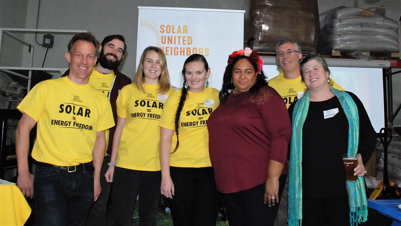 The Solar United Neighbors team at the 2017 D.C. Solar Celebration