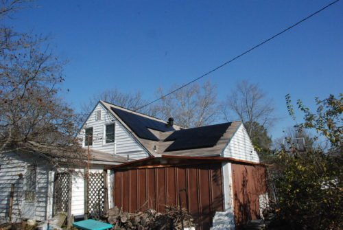 This rooftop solar system was installed as part of our Bowie Solar Co-op.