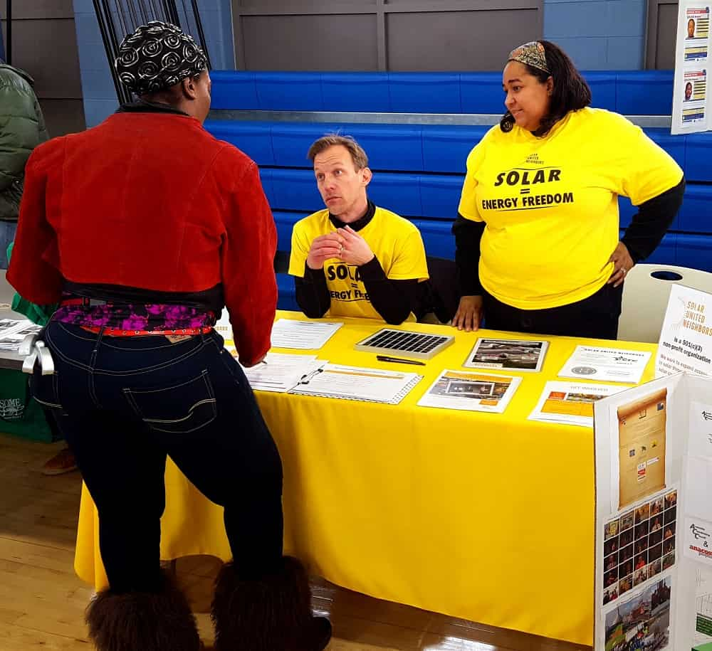Talking solar at the Health & Community Fair