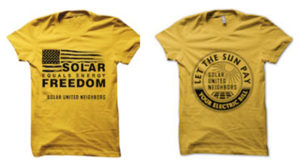 Become a member and choose your solar t-shirt!