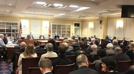 Solar United Neighbors of Maryland attended recent hearings in Annapolis to show support for the Clean Energy Jobs Bill.