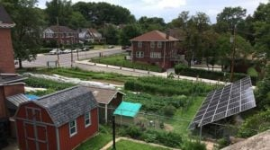 A view of solar homeowner Fred Kraybill's solar array