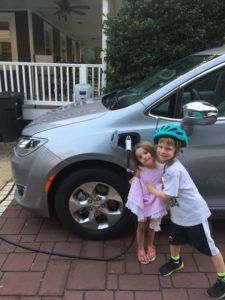 The whole Bruno family enjoys their new EV charger!