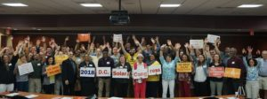 Solar supporters from around D.C. join together to celebrate solar energy at the 2018 D.C. Solar Congress.