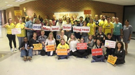 Solar supporters from around Maryland joined together for the 2018 Maryland Solar Congress!