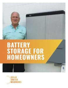 Cover of battery storage for homeowners guide