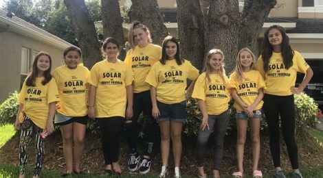 Here is the first Girl Scout troop to earn their SUN patches: Troop 32512 from Tampa, Florida!