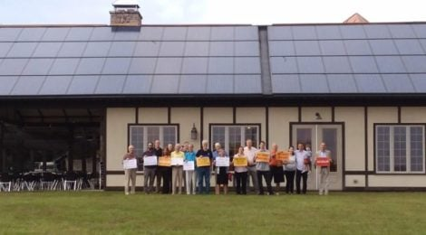 Solar supporters joined together to celebrate the success of the Upper Piedmont Solar Co-op and launch a second round!