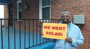 This homeowner in Ward 7 is the first Solar for All qualified participant of the 51st State Solar Co-op to install her solar system!