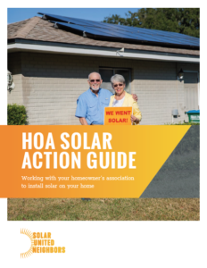 HOA Solar Action Guide cover photo.