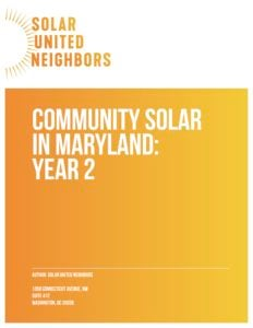 Download Our Community Solar In Maryland Year Two Report