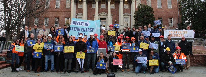 Marylanders gather to support the Clean Energy Jobs Act