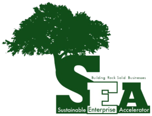 SRU Sustainable Enterprise Accelerator logo