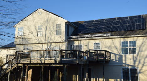 Montgomery County Maryland residential solar array