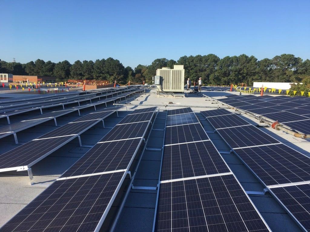 Norfolk Academy Virginia solar array