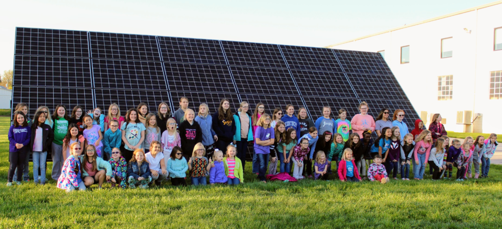 Dubois County, Indiana, Girl Scouts earn their solar badges