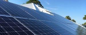 solar on roof closeup