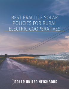 cover of Solar Best Practices report