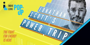 solar panels with Jonathan Scott's picture for Jonathan Scott's Power Trip film