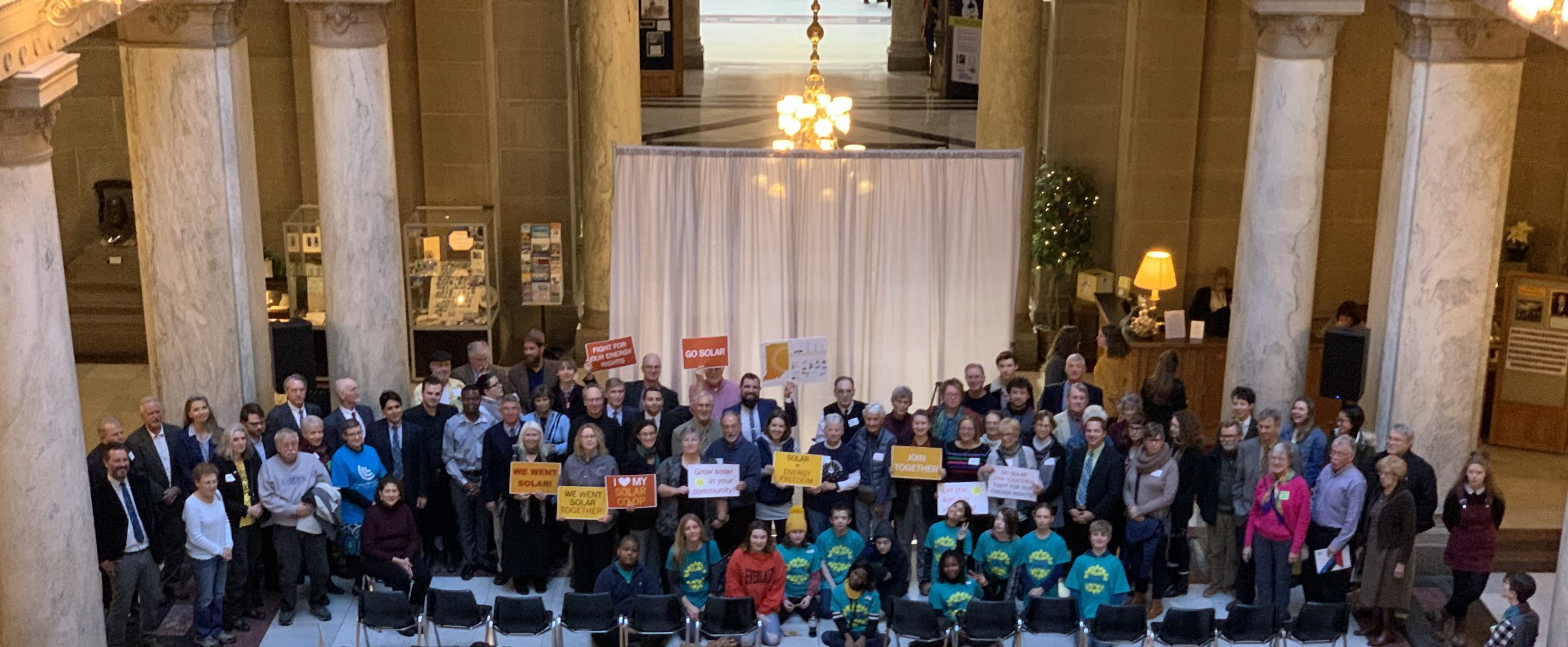 Hoosiers from around the state gathered at the Indiana Statehouse for the 2020 Renewable Energy Day